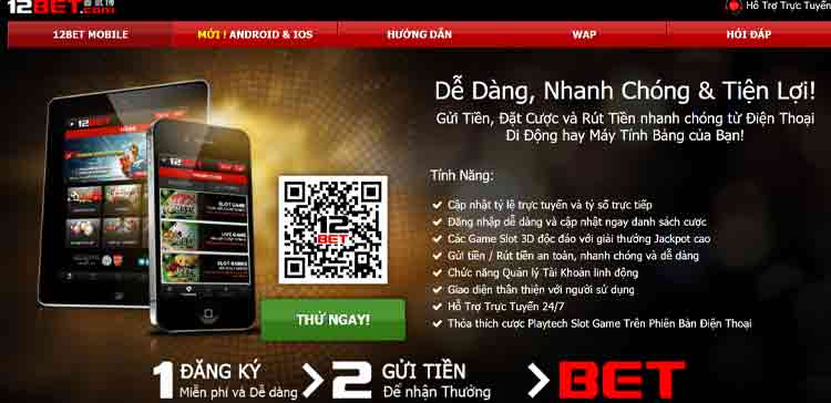 ứng dụng mobile 12BET